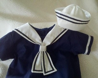Sailor Suits and Sailor Outfits for Baby Boys and Toddler Boys in Sizes Newborn to 5 and Up Classic White Dixie Cup Sailor Hat for Newborns, Babies, Toddlers .