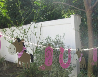 Cowgirl Garland Bunting - MADE TO ORDER