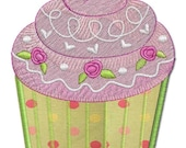 Cupcake - RIBBONS OF ROSES Machine Embroidery Designs