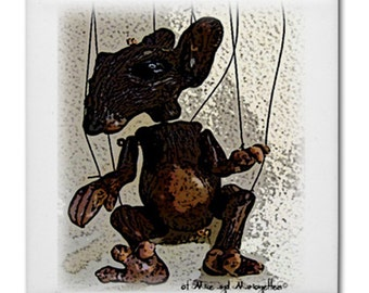 Mouse Marionettes ceramic tile coaster