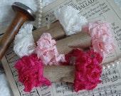 Shabby Wrinkle CHERRY BLOSSOMs ribbon bundle, 15 yards