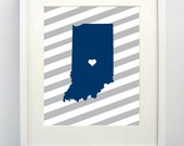 Butler University Giclée Print- 8x10 - Go Bulldogs - Indiana State Print