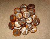 Handmade Mini Runes of the Elder Futhark, Goddess/God Silver/Gold