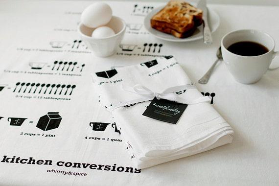 Kitchen Conversions Tea Towel - Kitchen Accessories -  30 x 30 floursack Kitchen Towel