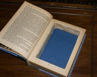 Hollowed Book Safes - Beautifully Patterned - Vintage Book - Hollow Book Stash