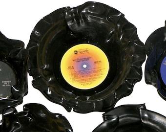 Round Vinyl Record Bowls