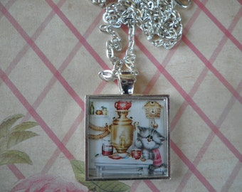 Tea Time With Kitty Necklace