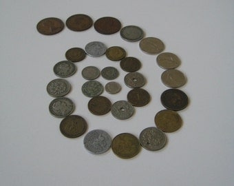 Vintage Coins Europe Caribbean Czech Republic 1908 to 1981 Jewelry Supplies Crafts