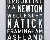 Boston via Hopkinton: Marathon Bus Roll Poster - UnionJackCreative