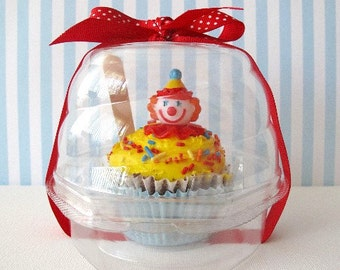 24 Swirl Dome Cupcake Box Plastic Party Favor Birthday Baby Shower Wedding