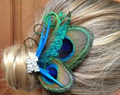 Reserved for Joel-balance-Customize- Peacock hair clip-, clutch purse,sash, broach and so much more