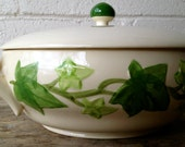 Reserved for Wendy: Franciscan Ivy Casserole Dish Handcrafted 1960s California