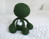 Hand Knit Green Plush Zombie