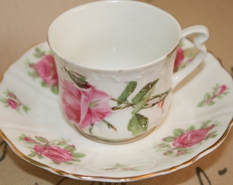 Old Royal Bone China Saucer with Vintage Mismatch Cup