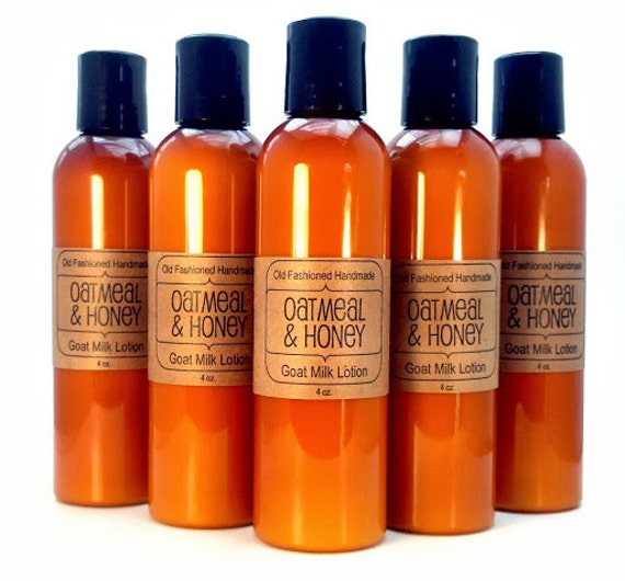 OATMEAL Goat Milk Lotion 4oz - Old Fashioned - Paraben and Formaldehyde Free