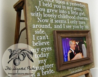 Personalized Father Picture Frame Gift, Father of the Bride, Dad, Daddy, Wedding Thank you gift for Dad 16x16