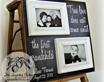 Gifts For Grandparents, Personalized Picture Frame Custom 16x16 Family, New Grandparents, First Grandchild