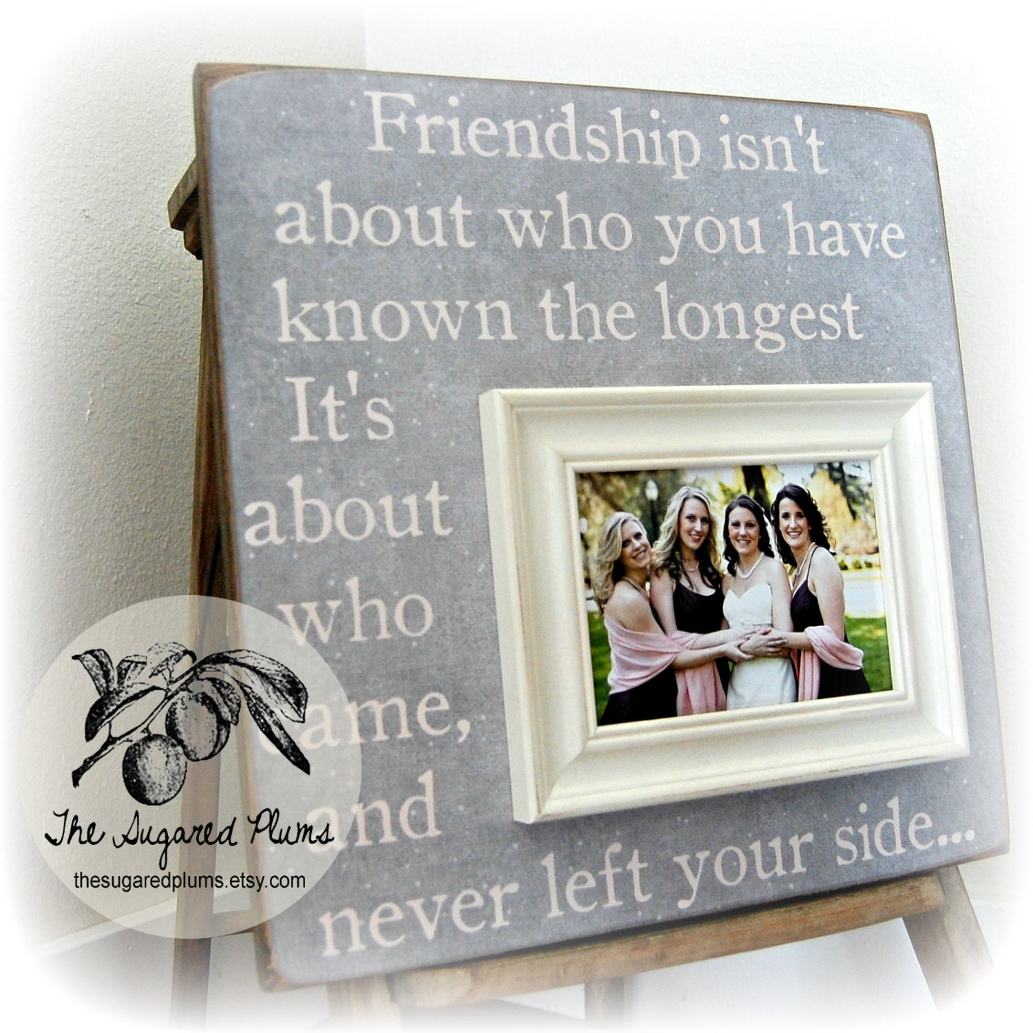 Bff Picture Frames. Best Friend Photo Frame Wooden White Hearts ...
