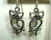 Dangle OWL Earrings in STERLING Silver