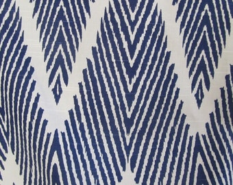 BALI NAVY designer, drapery/bedding/upholstery ikat fabric