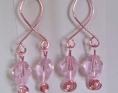 Breast Cancer Awareness Pink Earrings (E305a)