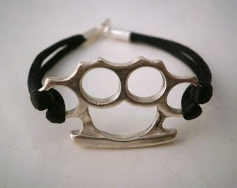 "Sterling Silver Bracelet ""Brass Knuckles"""
