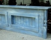 Wall Mount Rustic Full Size Or Queen Size Headboard, Mantle Style Display Shelf, Beach House Funriture
