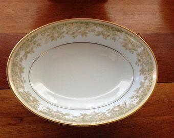 Vintage Noritake Lucerne Serving Vegetable Bowls 9 inch Gilt Edge with Rose pattern