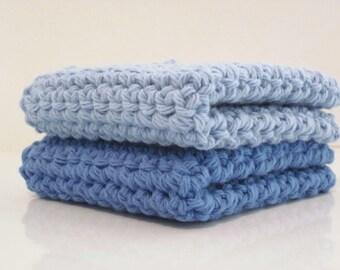 Crochet Washcloth, Dishcloth - set of 2