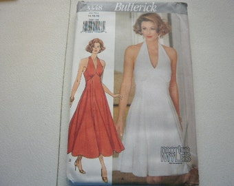 Pattern Ladies Morton Myles Designer Party Dress - Sizes 14,16,18 - Butterick 3348