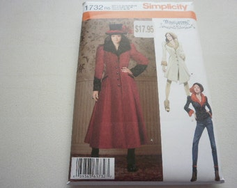 Pattern Womens Coats 3 Styles Sizes 14 to 22 Simplicity 1732 A