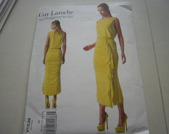 Pattern Womens Dress Paris Original Design Guy Laroche Sz 8 to 16 Vogue 1339 A