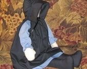 """Amish Doll  large 23""""  named """" Emma she is well made, Primitive,Faceless,signed and dated, good Quality,pretty, nice big size."""