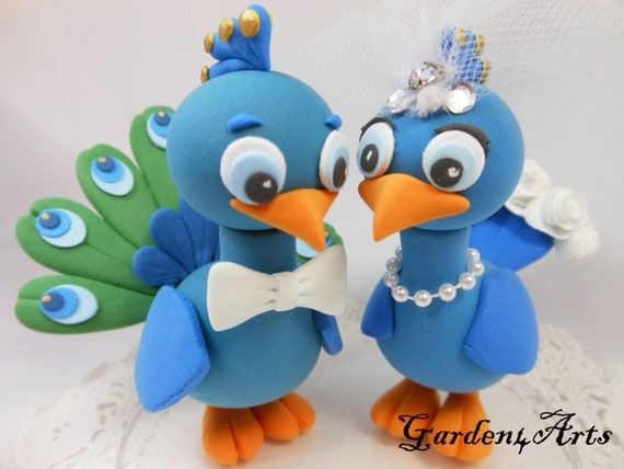 peacock wedding cake topper custom wedding cake topperlove peacock with circle 18161