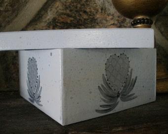 Hand Painted Paper Mache Box