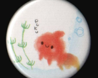 Little Goldfish 1.25 Inch Button