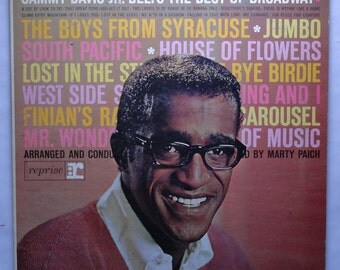 "Rare ""Sammy Davis Jr. Belts the Best of Broadway"" (1962) White Label Promo - Very Good Condition"