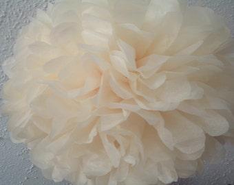 10 Tissue paper pom poms. Pom poms. Party poms. Wedding. Bridal shower. Tissue pom