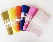 Set of 4 Head,Hand,Face Tea Towels,Handwoven Peshkir,Organic,Soft Baby Towel,Anti Bacterial,Natural Cotton,Eco Friendly kitchen towel