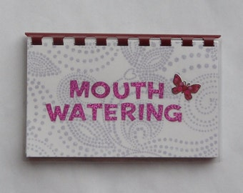 """SALE ITEM Priced as marked Handmade """"Mouth Watering"""" Blank Recipe Book"""