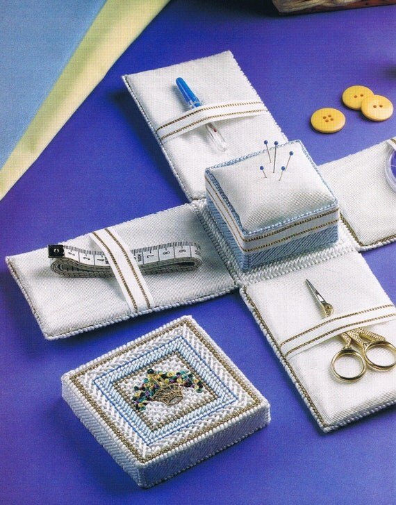 SEWING NOTIONS BOX Plastic Canvas Pattern