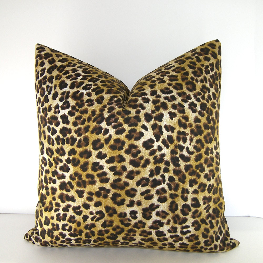 Both Sides Decorative Designer Pillow Cover Leopard Print