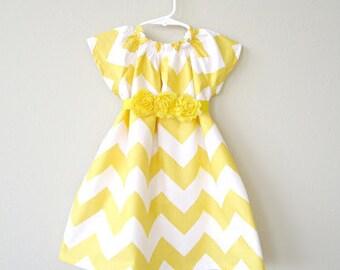 Yellow chevron dress | Etsy
