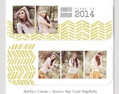 Butter Cream -  Senior Rep Card PSD Template Design