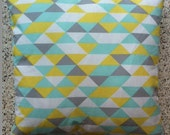 Geo Triangle Print Pillow