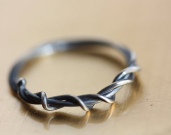 RING of Vines - Delicate Silver Ring - Nature Inspired