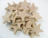 "20 Wood Stars 2"" Unfinished Wood Star"