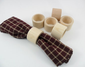 8 Wood Napkin Rings Unfinished Wood Napkin Rings 8 Pieces