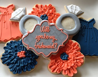 Will You Be My Bridesmaid Sugar Cookie Collection