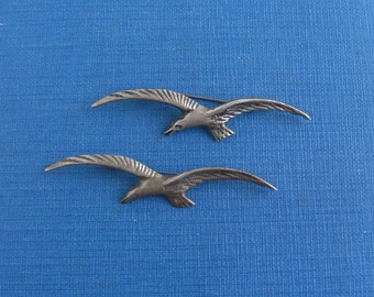 2 Sterling Silver Flying Seagull Pins - Vintage, Mexico
